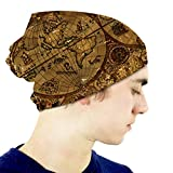 Kkyoxdiy Slouchy Beanie Hat Vintage with World Atlas Map On Antique Parchment Pirate Adve