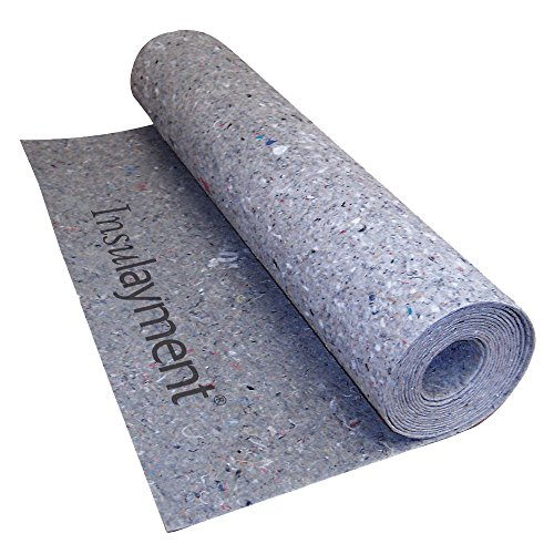 MP Global Products INSUL100 Insulayment Multi-Purpose Acoustical Underlayment for Glue and Nail Down Flooring, 3' x 33.4' (100 sq ft), Gray