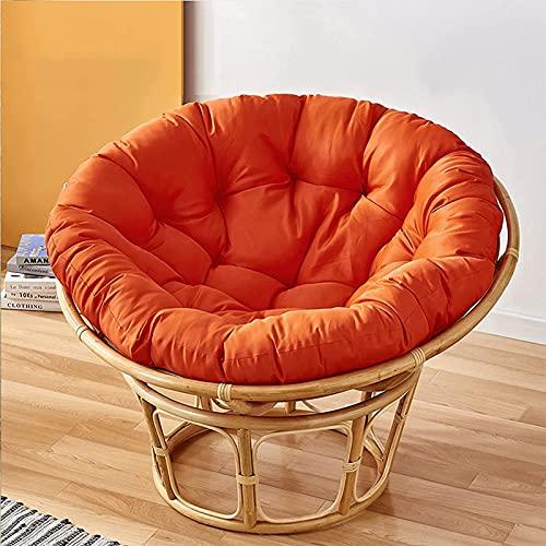 Cuscino Decorativo Rotondo per Mobili Giardino Cuscini Esterno Dondolo Sospeso Papasan Cuscini Sedie Esterno Home Decor (Nessuna Sedia),Arancia,160cm(62.9in)