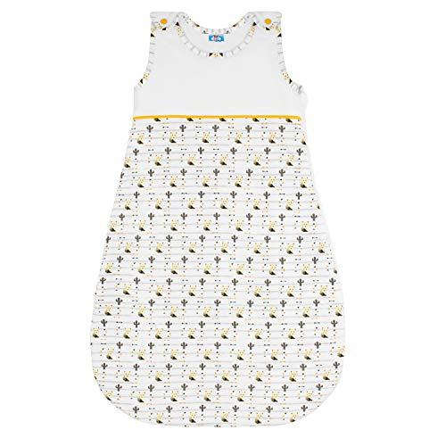 Sweety Fox - Babyschlafsack - 100% Biobaumwolle - Unisex - OEKO TEX - Schlafsack Baby TOG 2.5, Größe 90cm (12-18 Monate) - Gelb Sweety Fox