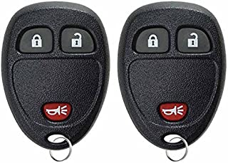 KeylessOption Keyless Entry Remote Control Car Key Fob Replacement for 15913420 (Pack of 2)