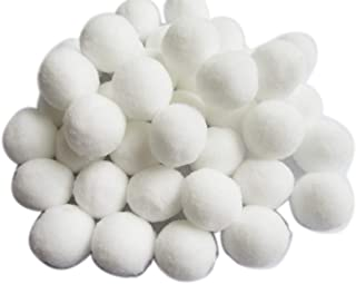 YYCRAFT 100pcs 1 inch Craft Pom Poms Balls for Hobby Supplies and DIY Creative Crafts, Party Decorations,White
