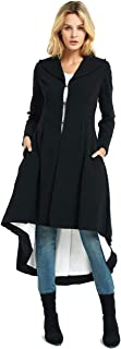 Women's Slim Long Dovetail Turn-Down Collar Trench Coat Gothic Clothing