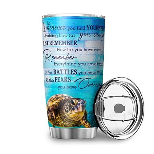 shenminqi Whever You Find Yourself - Taza de viaje de acero inoxidable con aislamiento al vacío, para picnic, color blanco 600 ml