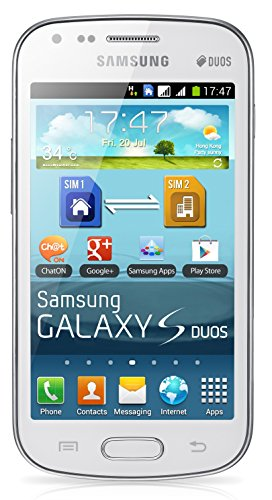 Samsung GT-S7562 Galaxy S Duos with Dual Sim Cell Phone - White