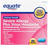 Equate Severe Allergy and Sinus Headache 20 Caplets