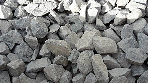 Der Naturstein Garten 25 kg Anthrazit Basaltsplitt 32-63 mm - Basalt Splitt Edelsplitt Lava Lavastein - Lieferung KOSTENLOS