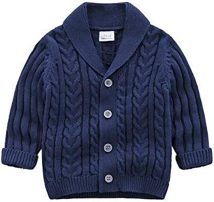 Feidoog Infant Baby Boys Cardigan Crochet Sweater V Neck Toddler Knit Button up Knitted Pattern product image