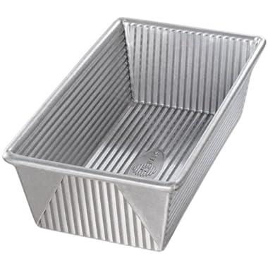 USA Pan Bakeware Aluminized Steel 1 1/4 Pound Loaf Pan