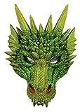 Forum Novelties Medieval Fantasy Dragon Half Mask, Green, One Size