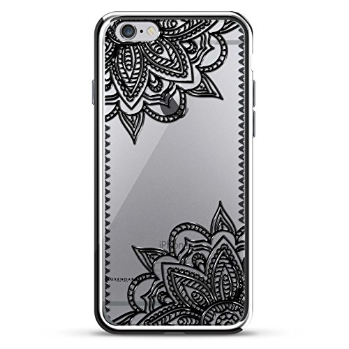 Luxendary LUX-I6PLCRM-MANDALA5 Lace Mandala Design Chrome Series Case for iPhone 6/6S Plus - Black