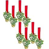 Regent Christmas Holiday Mistletoe Decoration with Bell 8' (8 Mistletoes)