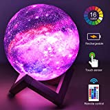 HYODREAM 3D Moon Lamp Kids Galaxy Star Night Light 5.9' Globe Light USB Rechargeable Touch & Remote Control Perfect Birthday Gift for Boys/Girls/Baby