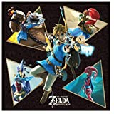 The Legend of Zelda Canvas Print Poster Wall Art Decor (6x6 inch) - Link with The Four Champions of Hyrule - Daruk, Mipha, Revali and Urbosa