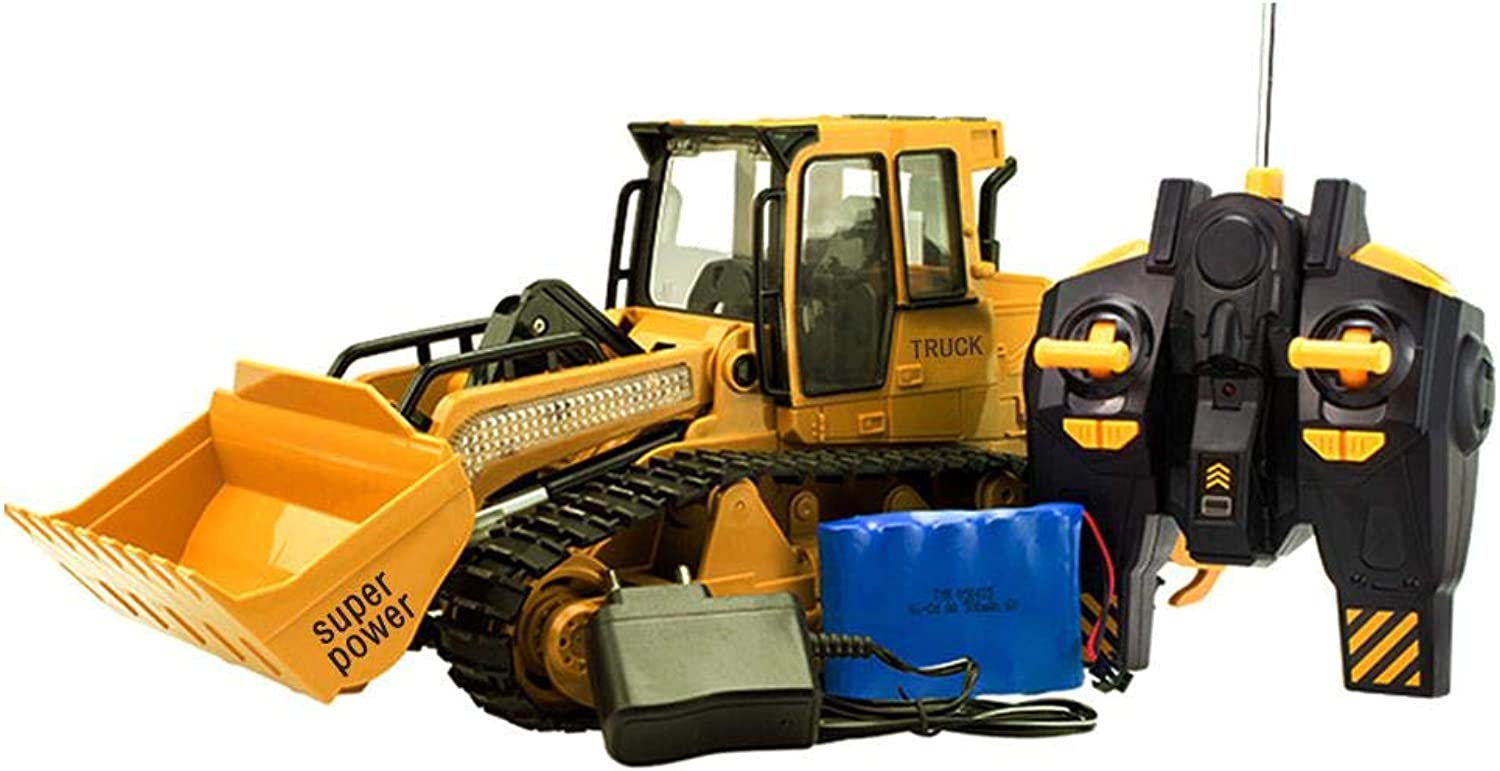 keruite cars for kids, xm6822l large simulated control bulldozer toy with  light sound with usb charging cable rc remote nrqiqh4443-new toys