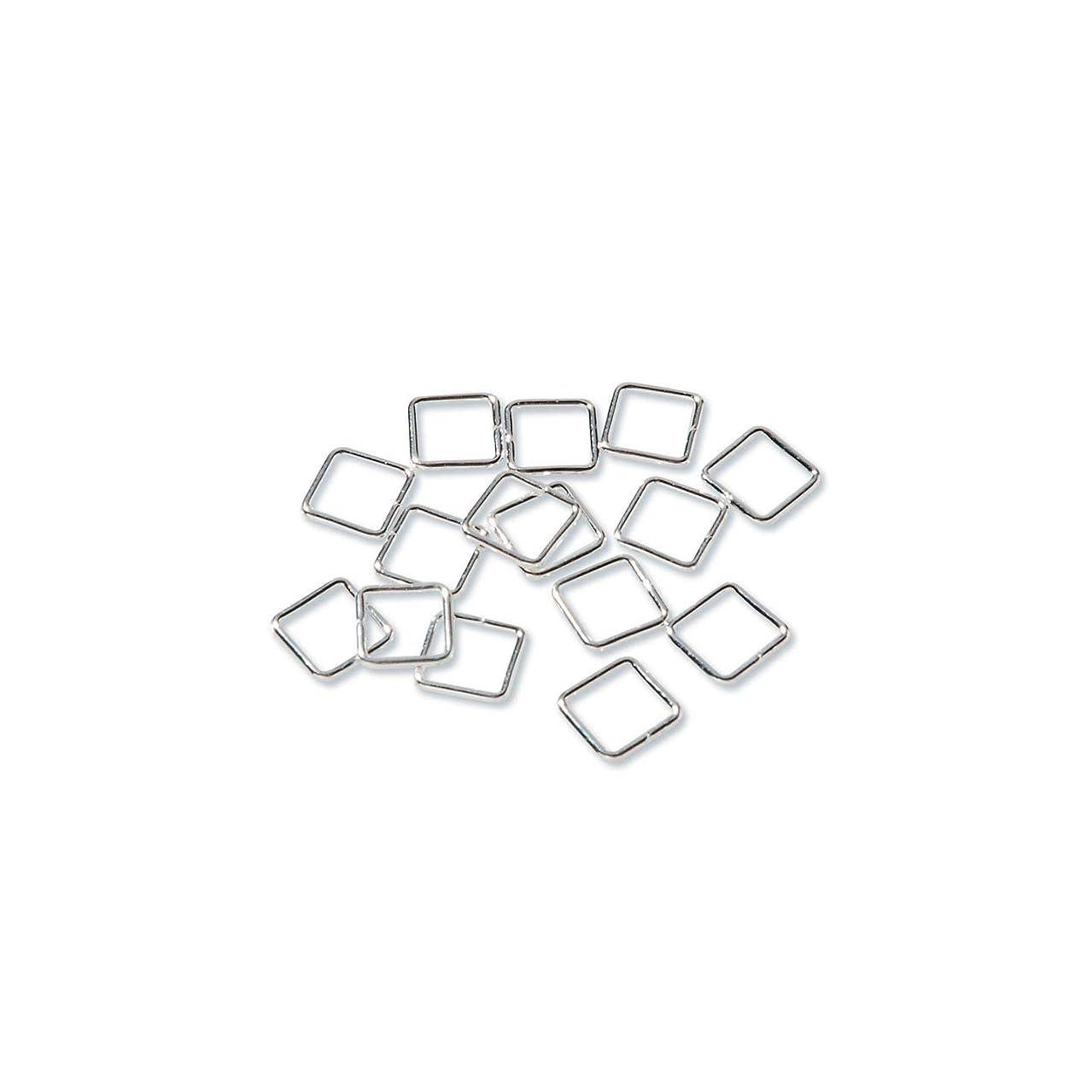 Bulk Buy: Darice DIY Crafts Jump Rings Square Sterling Silver Plated 7mm (6-Pack) 1996-11
