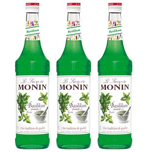 Monin Sirup Basilikum 0,7L 3er Pack