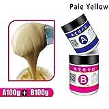 DDbrand - Pasta de reparación de cerámica para suelo de inodoro, baño, azulejos, 2 unidades