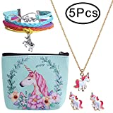 Hicdaw 5 Pcs Jewelry Set for Unicorn Gift for Girls Included...