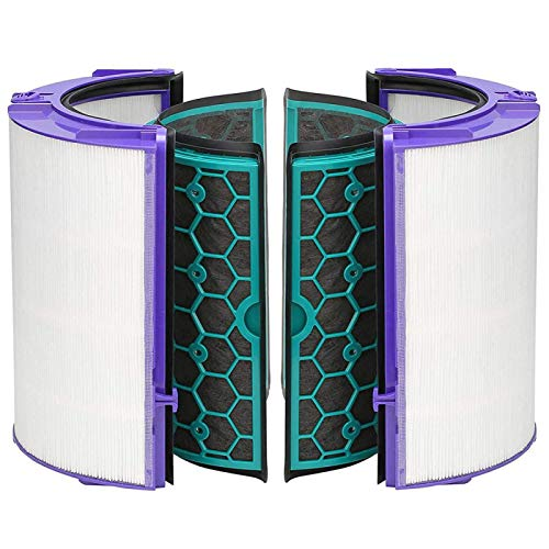 Replacement Filter (2 pcs HEPA Filter + 2pcs Activated Carbon Filter) for Dyson TP04 TP05 HP04 HP05 DP04