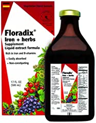 Best seller - Floradix is the best-selling natural liquid iron supplement in north America. Why? Because it helps fight back against iron deficiency by promoting the formation of healthy red blood cells.* It also is easily absorbed and many people ex...