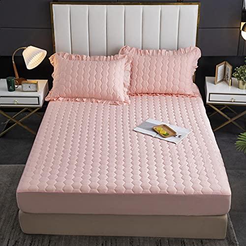 XGguo Matrasbeschermer, ter bescherming van de matras, waterdicht laken uit één stuk, urinebestendig en ademend - 10 x 120 x 200 cm + 25 cm
