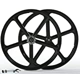 iMeshbean Fixed Gear 700c 5 Spoke Rims Single Speed Fixie Bicycle Wheels Clincher Type Set Bike...