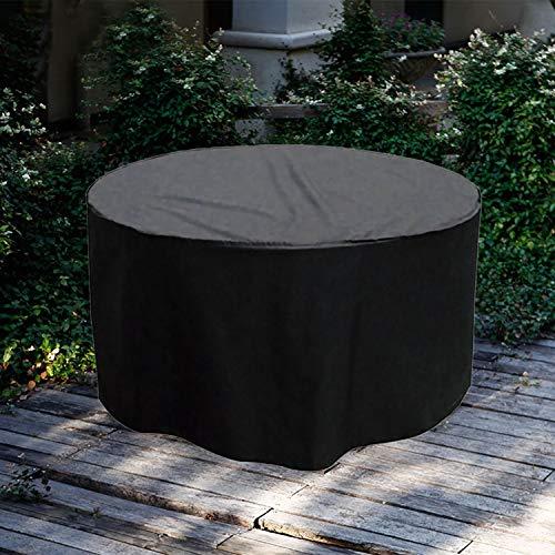 Housse de mobilier de jardin Housse de meuble ronde Durable vie quotidienne Imperméable à l'eau antipoussière Chaise de table d'extérieur Patio Set Housse de protection 50,39 x 27,95 pouces, 72,8