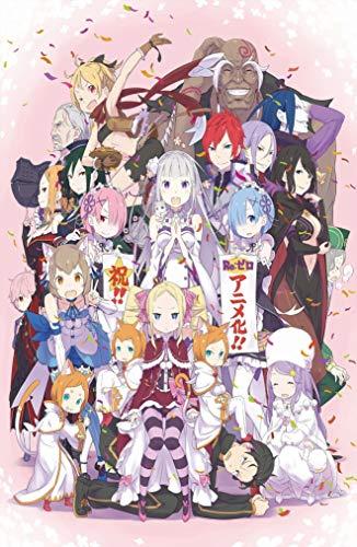28x43cm Anime ReZero kara Hajimeru Isekai Seikatsu Poster-Room Decoration-Cafe Bar-Home Decoration Theme, 11x17inches