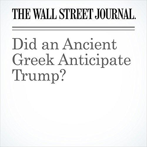 Did an Ancient Greek Anticipate Trump? copertina