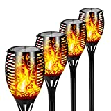 Otdair Solar Lights Outdoor Upgraded, Solar Torch Powered Waterproof Flickering Flames Lights Landscape Decoration Lanterns Dusk to Dawn Auto On/Off Security Light for Garden Patio Deck Yard Driveway