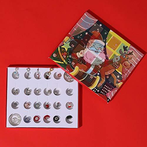 Motto.H Calendario de Adviento de Navidad 2020, Cuenta Regresiva, Calendario de adviento, Abalorios, joyería de Moda para niños Professional