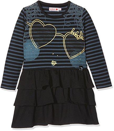 Boboli Mädchen Knit Stretch Dress for Girl Kleid, Mehrfarbig (Stripes 9527), 116