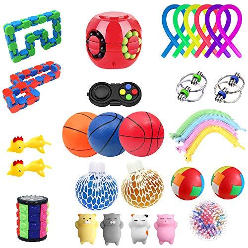 lcybem Fidget Toy Pack Fidget Spinner Fidget Toys Set Antistress Juguete Sensory Toys para Adulto con Niño (Estilo#2)