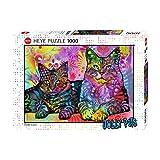 Heye HY29864 Puzzles-Jolly Pets, 1000 Unidades dedicadas a 2 Gatos