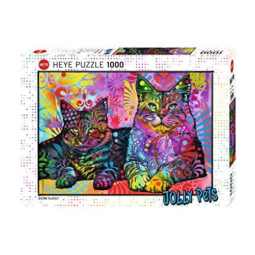 NIID Jigsaw Puzzle Puzzle 1000 Piezas, Tiger and Cat, Puzzle Educational Game Juguete para aliviar estrés Juego Intelectual Cerebro Desafío (Size 70 * 50cm)