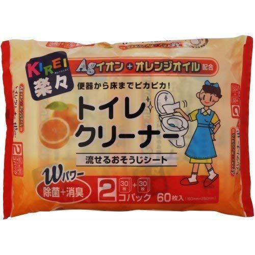 THT キレイ楽々 Agオレンジ除菌トイレクリーナー (30枚*2コ入)