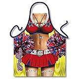 Tablier de cuisine humoristique Femme Sexy Pom-Pom Girl - Cuisine Cadeau Deguisement Humour Noel - 208