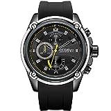 MEGIR Chronograph Quartz Watches for Men 3 ATM Waterproof Sports Wristwatch Man