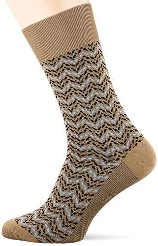 FALKE Herren Colour Waves M SO Socken, Beige (Camelhair 4251), 39-40 (UK 5.5-6.5 Ι US 6.5-7.5)