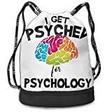 Sacs à Cordon,Sacs de Sport,Sacs à Dos Loisir, I Get Psyched for Psychology Bundle Backpack Fashion Drawstring Bags