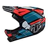 Troy Lee Designs D3 Fiberlite - Casco para BMX Vertigo, color azul y rojo (M)