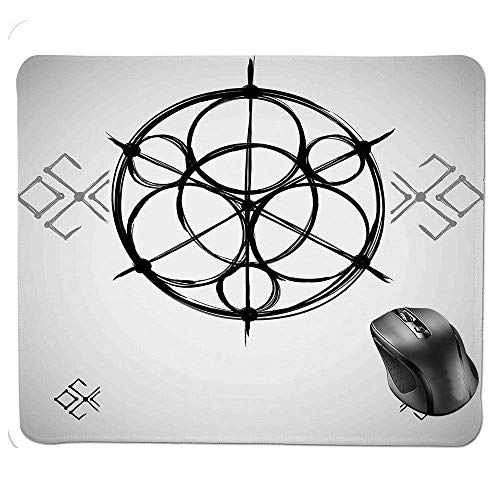 Ergonomic Mouse pad,Sketchy Geometric Plan with Swirled Spiral Origins Cosmos Universe Decor Mouse Pad
