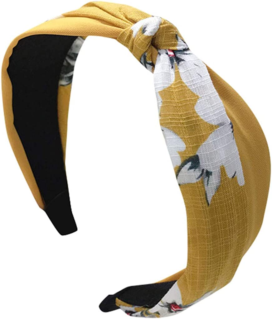 Sayhi Ladies Headband Handmade Cloth Cross Knot Hairbands Broadside Comfortable Hair Hoop Hair Accessories