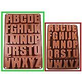 Seifenprofis XXL 26 lettere – Extra stabile – Stampo in silicone per sapone – Stampo per cioccolato 41 x 27 x 3 cm