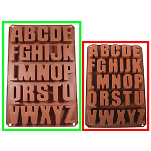 Seifenprofis XXL 26 Buchstaben -Extra Stabil- Silikonform Seifenform Backform Schokoladenform 41 * 27 * 3CM