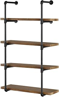 iron pipe shelves kitchen
