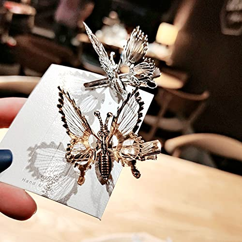 Butterfly hair clips with moving wings _image1