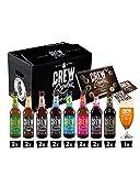 CREW REPUBLIC Craft Bier Mix Probierset | Ideales Geschenk für Männer | Bierspezialitäten aus Bayern nach deutschem Reinheitsgebot | Inkl. Verkostungsglas und Tasting Notes (16 x 0,33l)