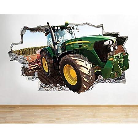 Traktor Trecker Mähdrescher Wandtattoo Wandsticker Wandaufkleber D2143